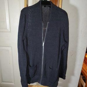 All Saints men's zip front cardigan sweater